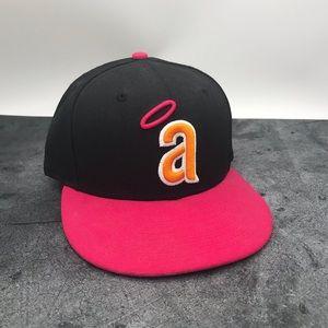 New Era 59Fifty Pink LA Angels Baseball Hat Size 7